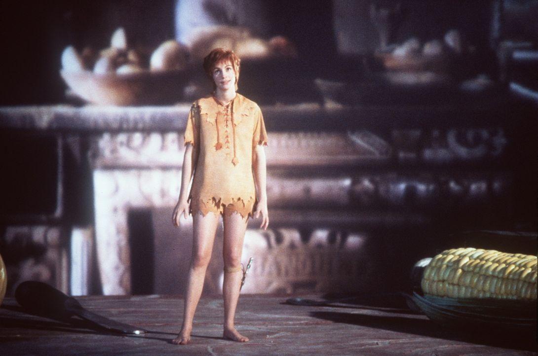 Als ein sprechendes Glühwürmchen namens Tinkerbell (Julia Roberts) plötzlich in seinem geruhsamen und geordneten Leben auftaucht, beginnt Banning... - Bildquelle: Copyright   1991 TriStar Pictures, Inc. All Rights Reserved.