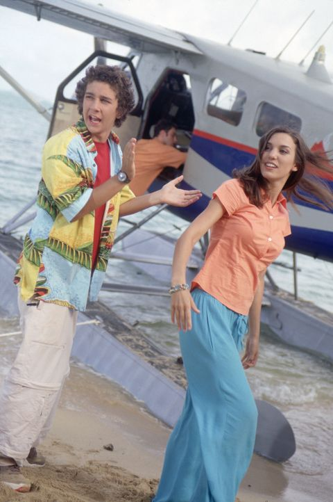 Ahnen nicht, Opfer einer Reality-Show geworden zu sein: Louis (Shia LaBeouf, l.) und Ren Stevens (Christy Carlson Romano, r.) ... - Bildquelle: The Disney Channel