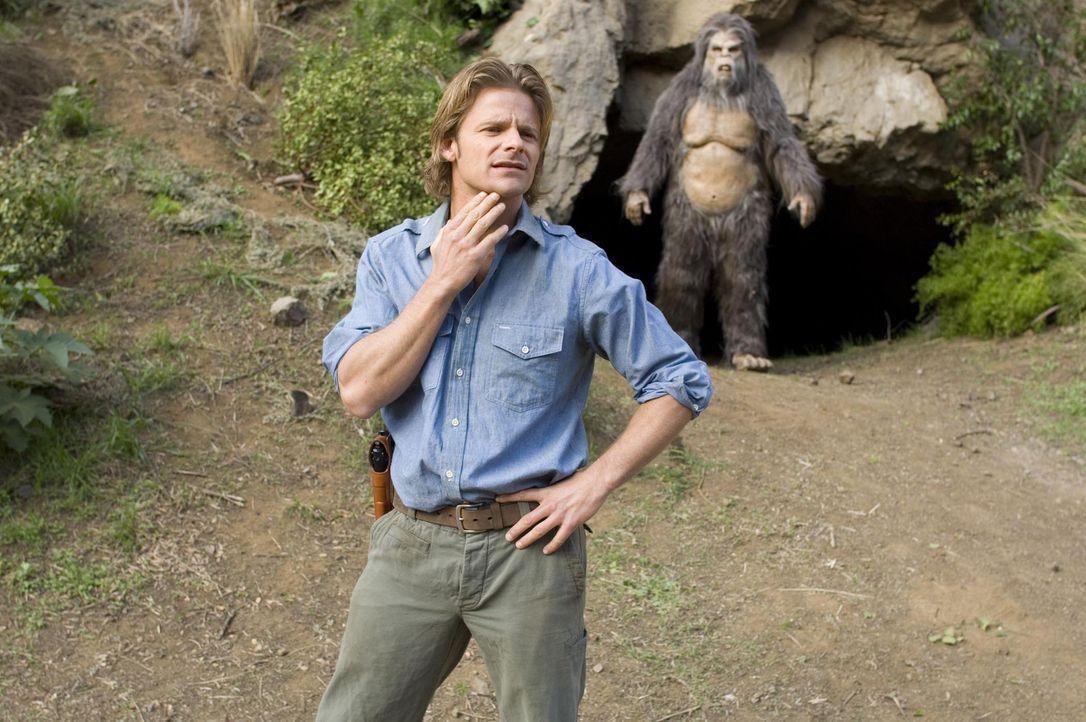 """Peter (Steve Zahn), der Moderator der Fernsehsendung """"Strange Wilderness"""", scheint Bigfoot aufgetan zu haben.Doch wie geht es jetzt weiter? - Bildquelle: Paramount Pictures"""