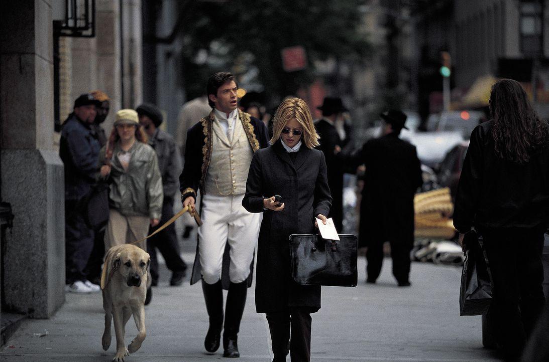 Nach anfänglichem Befremden ist der zeitreisende Gentleman (Hugh Jackman, l.) überaus angetan von Kate (Meg Ryan, r.), die so ganz anders ist als... - Bildquelle: 20th Century Fox of Germany