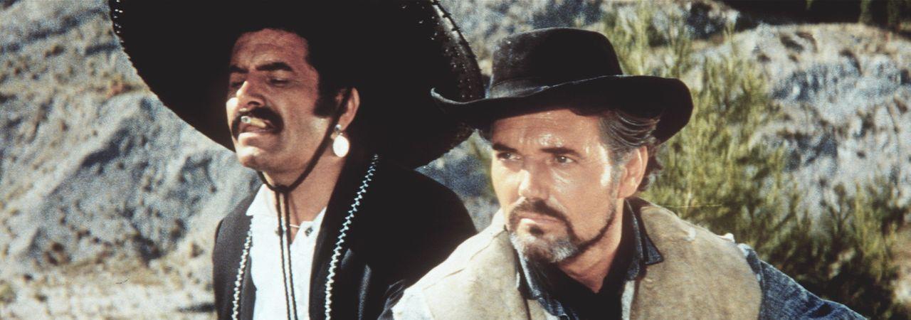 Der skrupellose Gauner Quilerva (Miha Baloh, l.) und sein Boss Silers (Harald Leipniz, r.) überlegen, wie sie den Tod von Silers' Bruder rächen k - Bildquelle: Columbia Pictures
