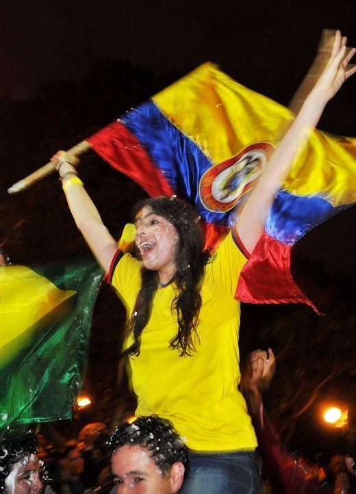 Die kolumbianischen Fans - 3 - Bildquelle: AFP