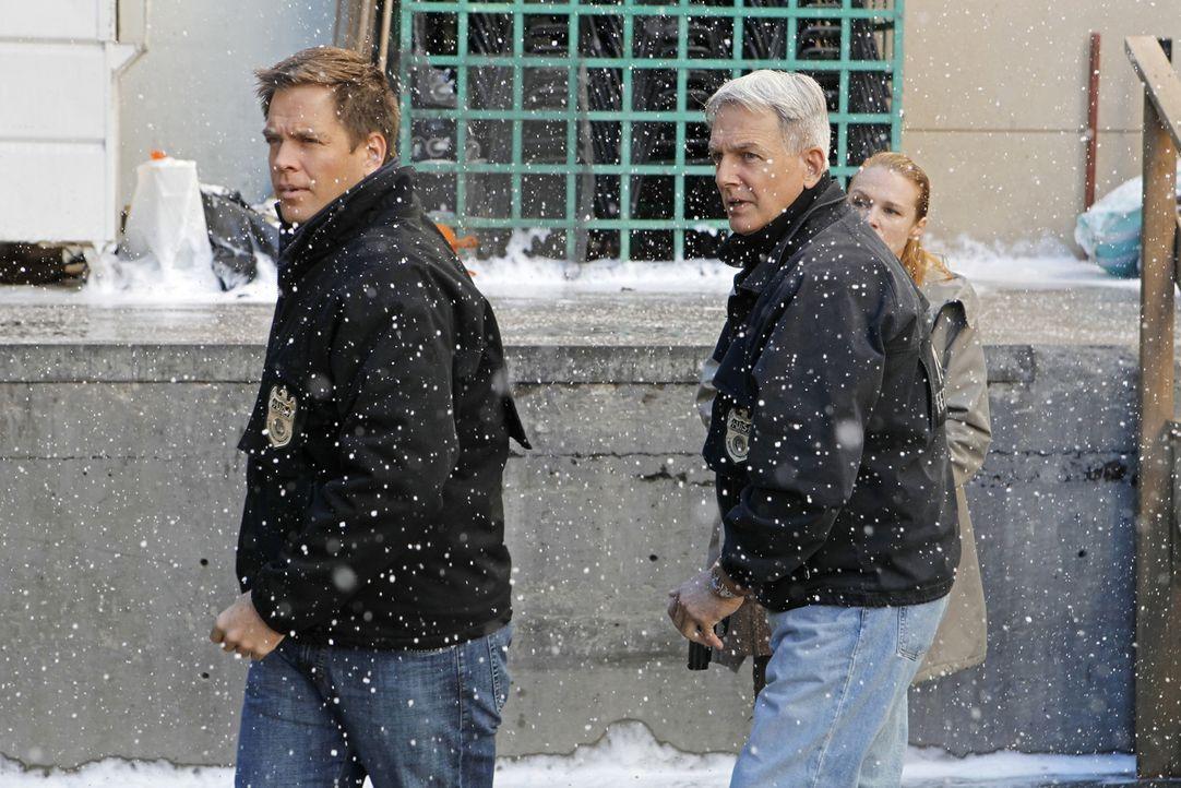 Ermitteln in einem neuen Fall: Tony (Michael Weatherly, l.) und Gibbs (Mark Harmon, M.) ... - Bildquelle: CBS Television