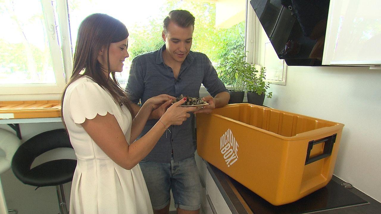 Stefanie und Claudio sind erst seit kurzem ein Paar. Ist das für die Koch-Challenge ein Vor- oder Nachteil? - Bildquelle: kabel eins