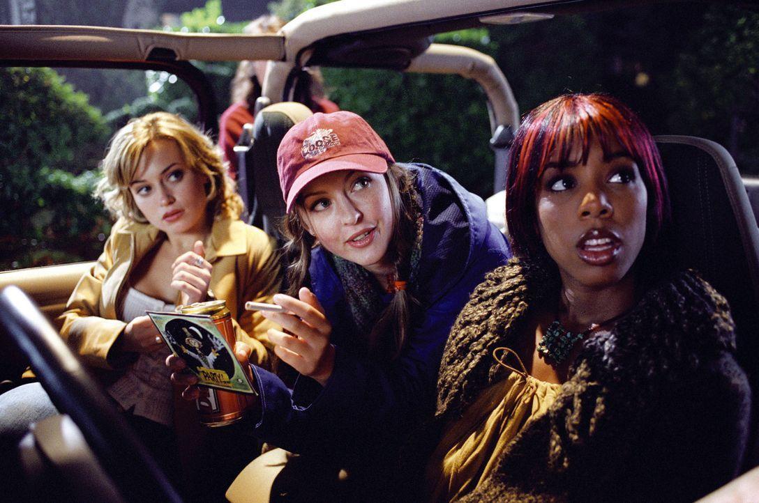 Ahnen noch nicht, dass das Grauen auf sie wartet: (v.l.n.r.) Lori (Monica Keena), Gibb (Katharine Isabelle) und Kia (Kelly Rowland) ... - Bildquelle: Warner Bros. Pictures