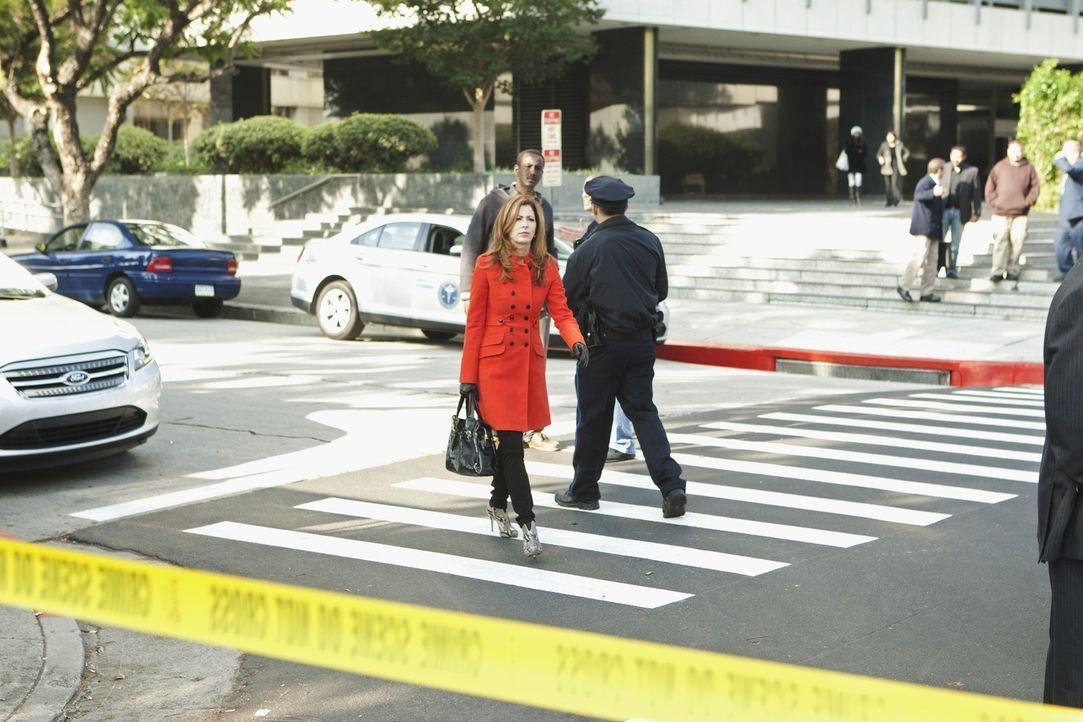 Die Leiche des Architekten Kyle Harrison wird zufällig in einem Kofferraum gefunden. Dr. Megan Hunt (Dana Delany) begibt sich auf Spurensuche, denn... - Bildquelle: 2012 American Broadcasting Companies, Inc. All rights reserved.