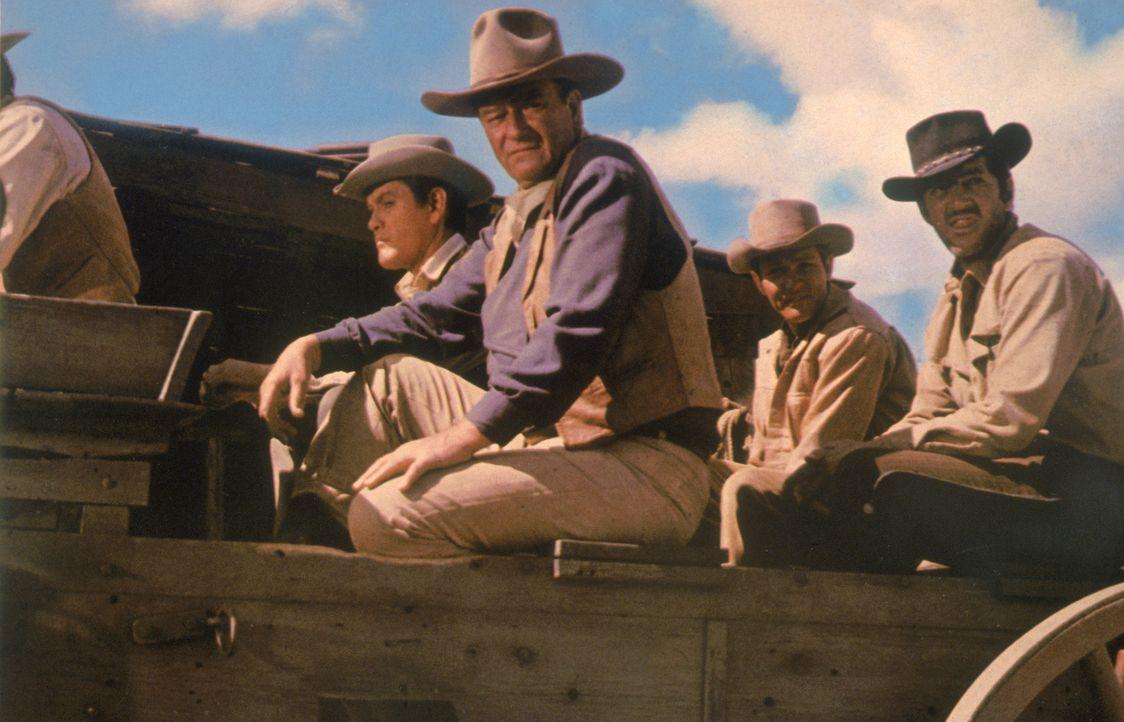 Nach Jahren der Trennung treffen sich die vier Elder-Brüder am Grab ihrer verstorbenen Mutter wieder: (v.l.n.r.) Matt (Earl Holliman), John (John Wa... - Bildquelle: TM &   2003 By Paramount Pictures All Rights Reserved