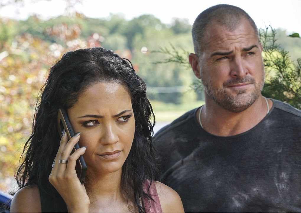 Riley Davis (Tristin Mays, l.); Jack Dalton (George Eads, r.) - Bildquelle: Annette Brown 2018 CBS Broadcasting, Inc. All Rights Reserved / Annette Brown