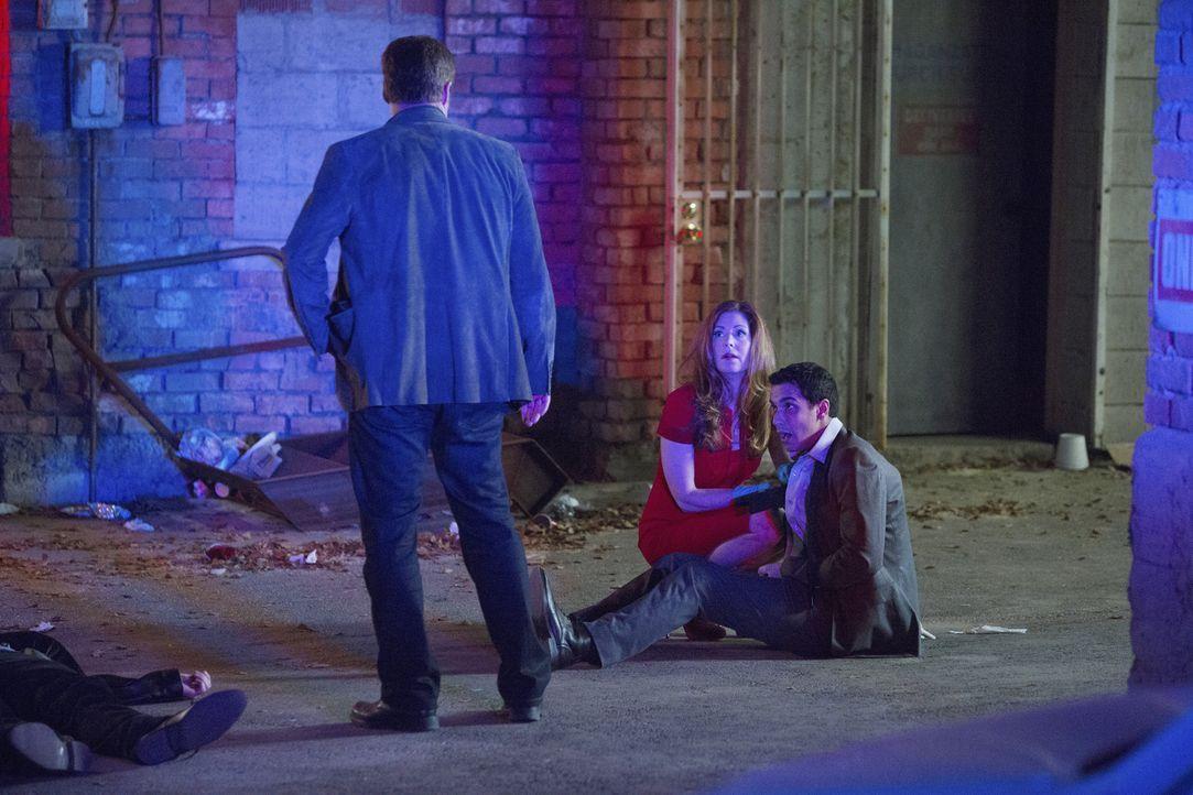 Detective Tommy Sulivan (Mark Valley, l.) muss mit Dr. Megan Hunt (Dana Delany, M.) wieder in den dunkelsten Ecken ermitteln. Auch Jaxon Ware (Alex... - Bildquelle: 2013 American Broadcasting Companies, Inc. All rights reserved.