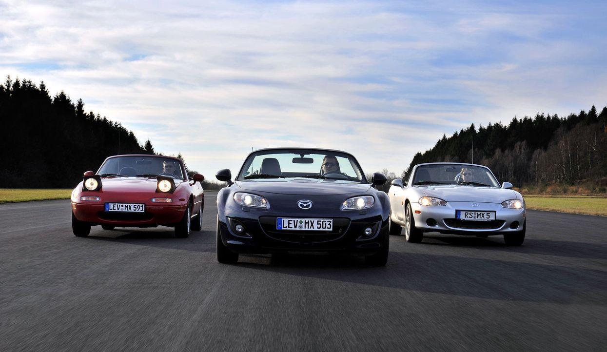 Mazda MX5 3 Generationen (3) - Bildquelle: Hildebrandt/Lorenz