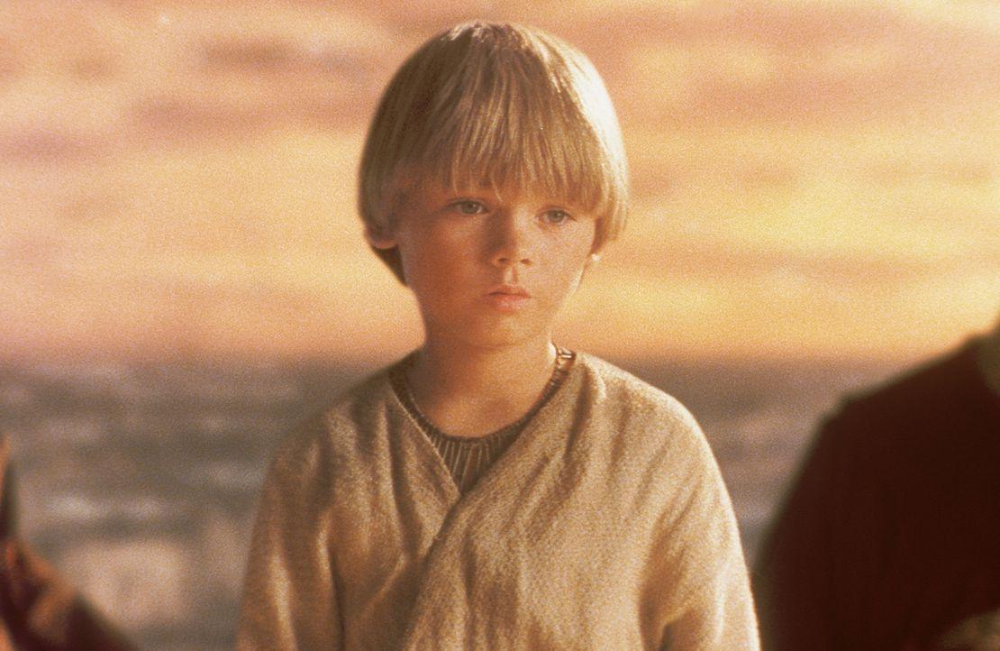 Als Qui-Gon die außergewöhnlichen Fähigkeiten des Jungen bemerkt, fühlt er sich in seiner Ahnung bestätigt, dass Anakin (Jake Lloyd) die Veranlagung... - Bildquelle: 1999 Lucasfilm Ltd. & TM All rights reserved Used with permission