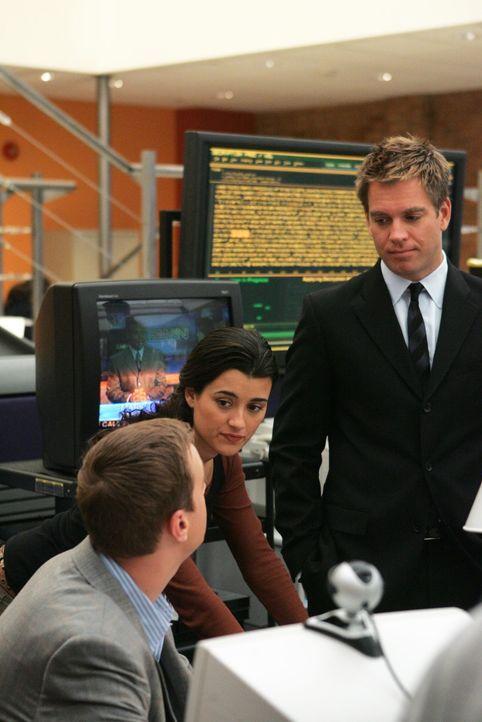 Nach einem Speed-Dating-Abend verschwindet Lieutenant Anne Sullivan. Tony (Michael Weatherly, r.), McGee (Sean Murray, l.) und Ziva (Cote de Pablo,... - Bildquelle: CBS Television