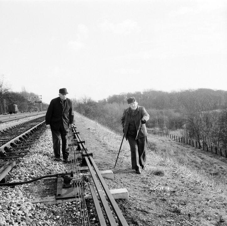 Miss Marple (Margaret Rutherford, l.) und ihr Freund Jim Stringer (Stringer Davis, r.) sind der Leiche auf der Spur. Hat der Täter sie etwa bei voll... - Bildquelle: Warner Brothers