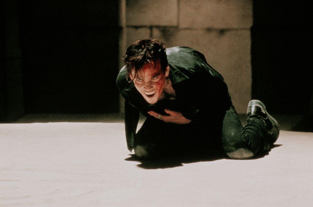 Ziemlich angeschlagen, doch noch nicht endgültig besiegt: Blutsauger Deacon Frost (Stephen Dorff) ... - Bildquelle: New Line Cinema