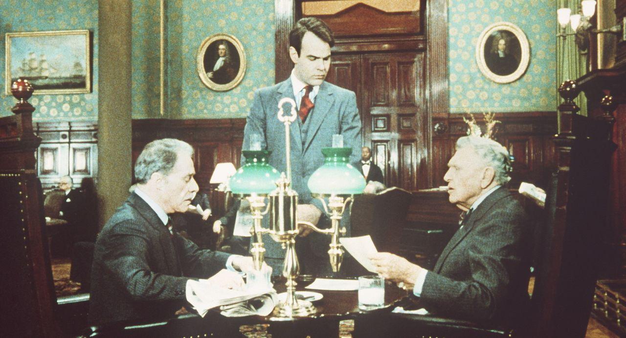 Die Rohstoffmakler Randolph (Ralph Bellamy, r.) und Mortimer Duke (Don Ameche, l.) haben einen Heidenspaß an Wetten. EinesTages wetten die beiden,... - Bildquelle: Paramount Pictures