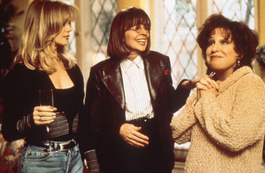 Brenda (Bette Midler, r.), Elise (Goldie Hawn, l.) und Annie (Diane Keaton, M.) haben alle drei das gleiche Problem : ihre Ehemänner! - Bildquelle: Paramount Pictures