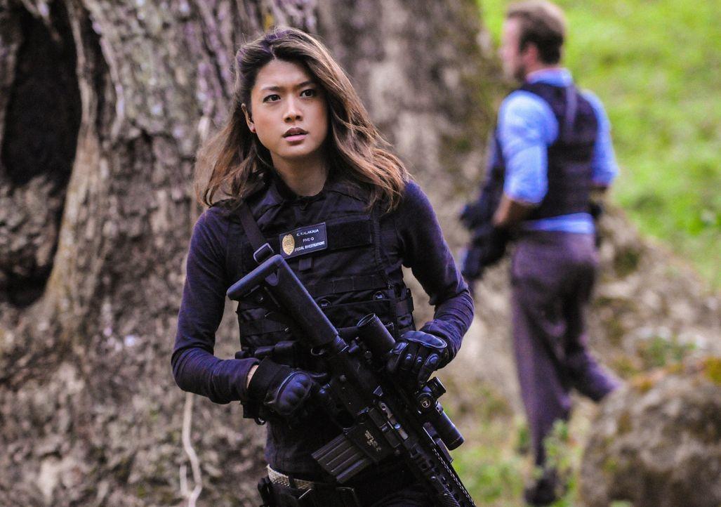 Muss gemeinsam mit ihrem Team einen neuen Mordfall aufdecken: Kono (Grace Park) ... - Bildquelle: 2013 CBS Broadcasting, Inc. All Rights Reserved.