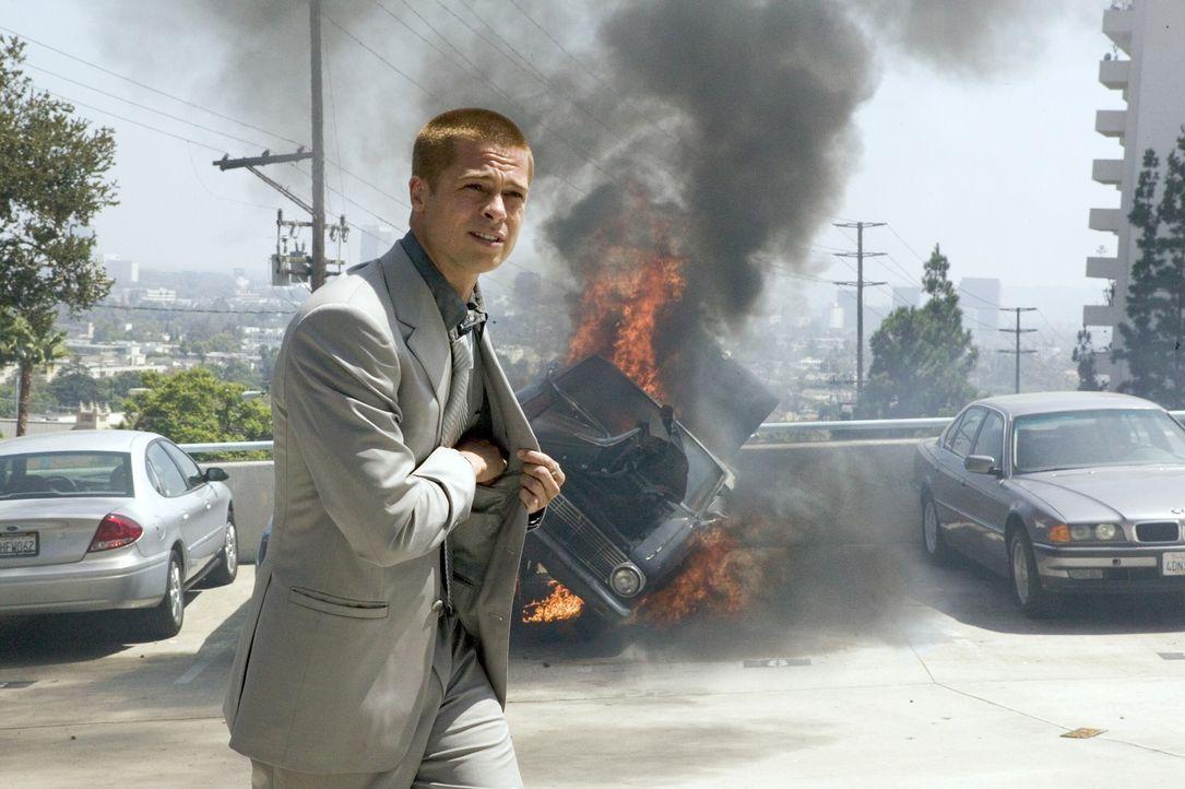 Lässt sich von nichts und niemanden aufhalten: Rusty Ryan (Brad Pitt) ... - Bildquelle: Warner Bros. Television