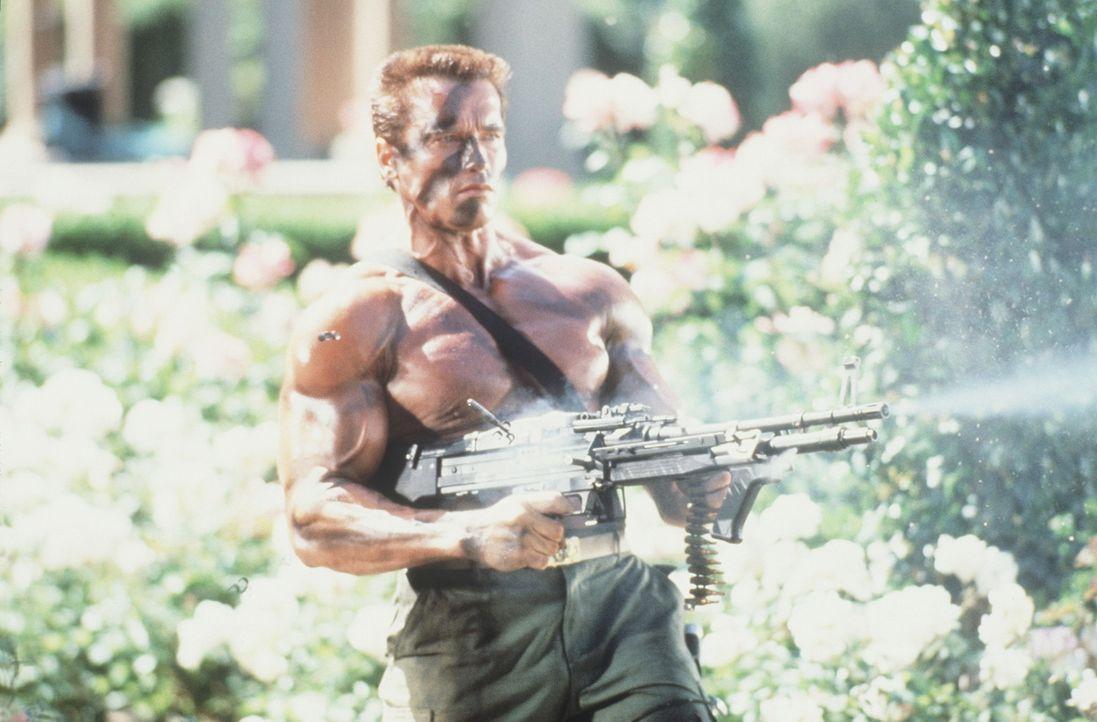 John Matrix (Arnold Schwarzenegger) gelingt es, das Versteck und Hauptquartier der Terroristen ausfindig zu machen. Doch vorher muss er alleine gege... - Bildquelle: 20th Century Fox Film Corporation