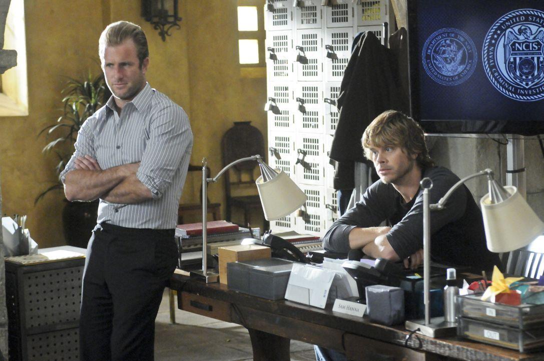 Ein neuer Fall beschäftigt Danny (Scott Caan, l.) und Deeks (Eric Christian Olsen, r.) ... - Bildquelle: CBS Studios Inc. All Rights Reserved.