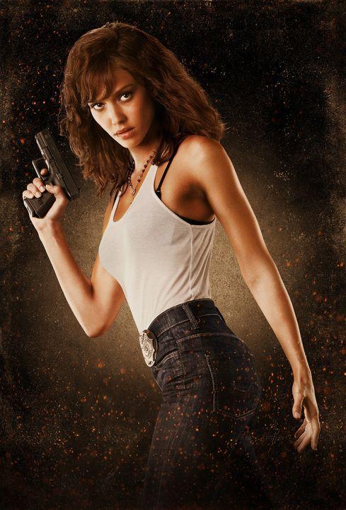 Beinahe zu spät erkennt die Einwanderungsbeamtin Sartana (Jessica Alba), dass die Mörder nicht aus dem feindlichen Lager kommen ... - Bildquelle: 2010 Machete's Chop Shop, Inc. All Rights Reserved.