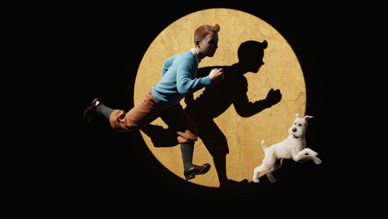 Erleben ein ganz besonderes Abenteuer: Tim (l.) und Struppi (r.) ... - Bildquelle: 2011 Columbia Pictures Industries, Inc., DW Studios L.L.C. and Hemisphere - Culver Picture Partners I, LLC. All Rights Reserved.