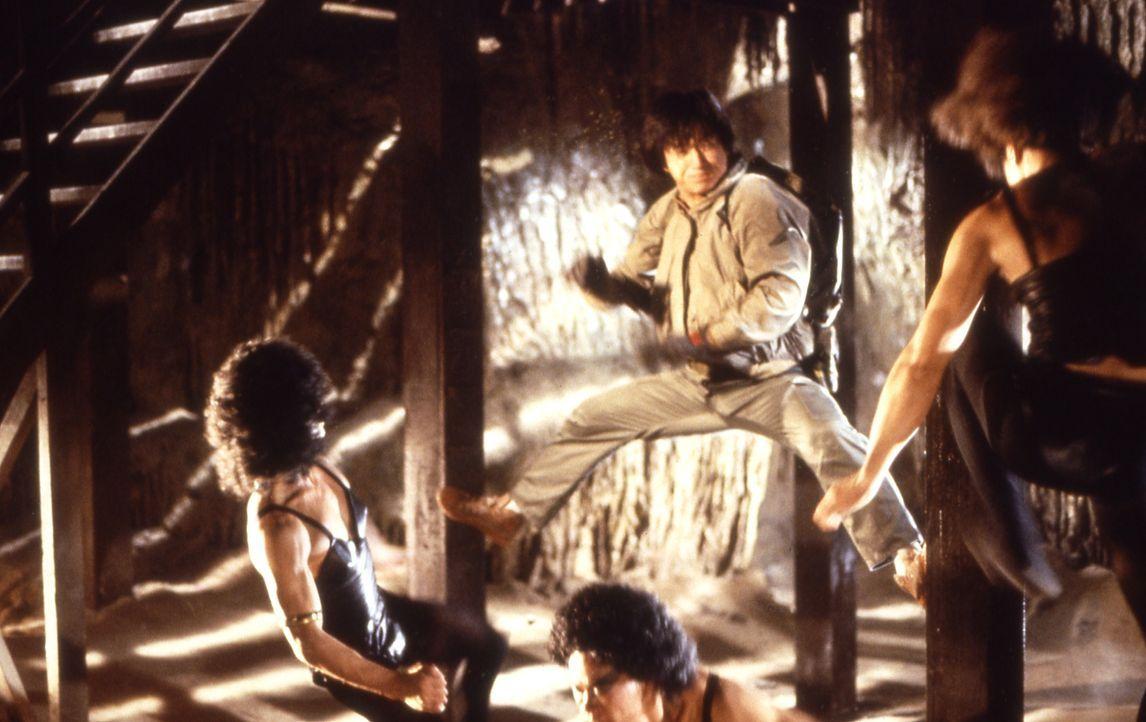 Jackie (Jackie Chan, M.) schlägt zurück ... - Bildquelle: Golden Harvest Company