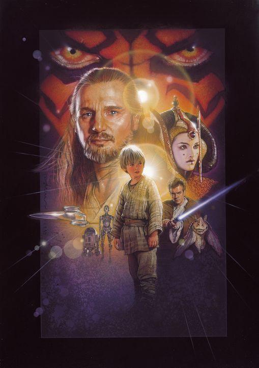 """""""Möge die Macht mit euch sein"""" : Qui-Gon Jinn (Liam Neeson, l.), Obi-Wan Kenobi (Ewan McGregor, r.), Königin Amidala (Natalie Portman, r.) und der j... - Bildquelle: 1999 Lucasfilm Ltd. & TM All rights reserved Used with permission"""