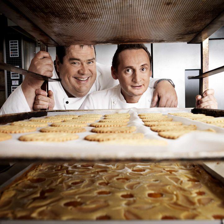 Das Team ist unschlagbar - maximale Fachkompetenz trifft auf Kreativität und Unterhaltungswert: Die Torten-Tuner Frank Steidl (r.) und Thomas Horn... - Bildquelle: kabel eins