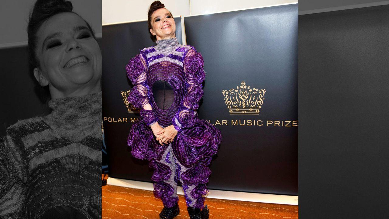 Björk ganz in Lila  - Bildquelle: AFP