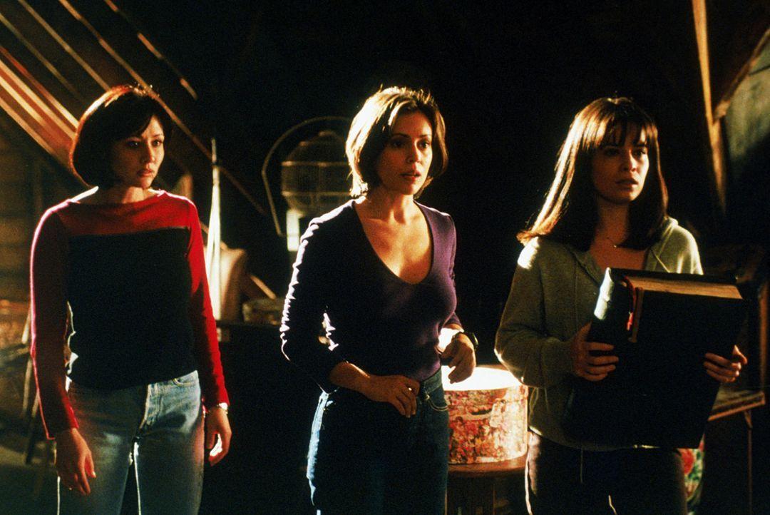 Wenn Piper (Holly Marie Combs, r.), Phoebe (Alyssa Milano, M.) und Prue (Shannen Doherty, l.) die böse Hexe Kali vernichten wollen, müssen sie ihr... - Bildquelle: Paramount Pictures