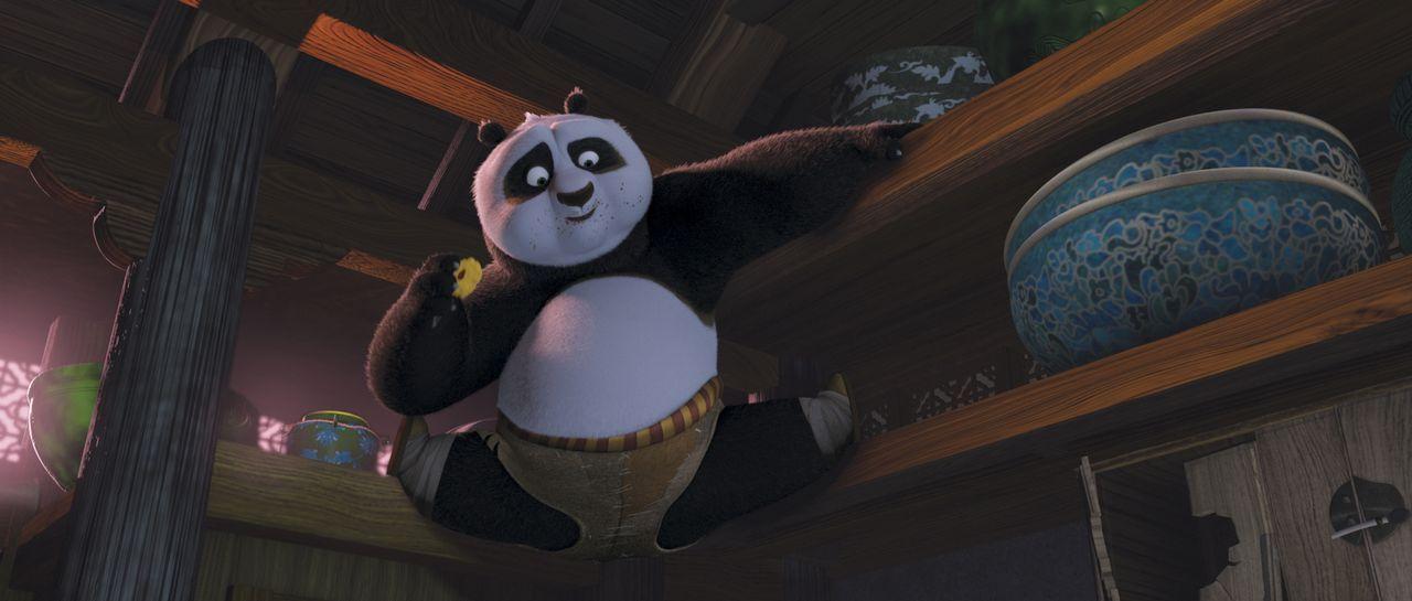 Da er unerwartet dazu berufen wird, die alte Kunst des Kung Fu-Kämpfens zu erlernen, wird das Leben und der Stoffwechsel des dicken Panda auf den Ko... - Bildquelle: Paramount Pictures