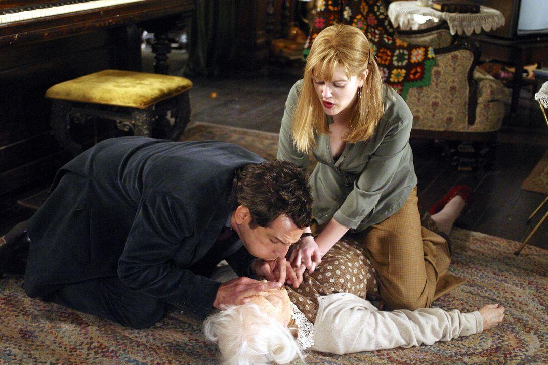 Die ältere Dame stellt sich bald als nervenaufreibender Hausdrachen heraus, der tagsüber Alex (Ben Stiller, l.) mit unzähligen Aufgaben beschäft... - Bildquelle: Michaels Darren Miramax Films.  All Rights Reserved.