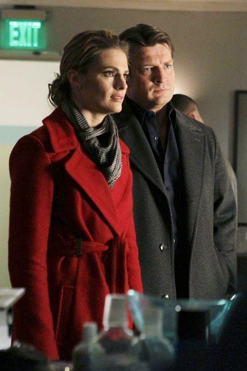 Werden Kate Beckett (Stana Katic, l.) und Richard Castle (Nathan Fillion, r.) den Mörder des berühmten Hundetrainers Francisco Pilar finden? - Bildquelle: ABC Studios
