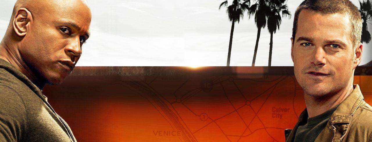 (8. Staffel) - Ermitteln Undercover im sonnigen Kalifornien, um die nationale Sicherheit zu wahren: Special Agent G. Callen (Chris O'Donnell, r.) un... - Bildquelle: 2016 CBS Studios Inc. All Rights Reserved.