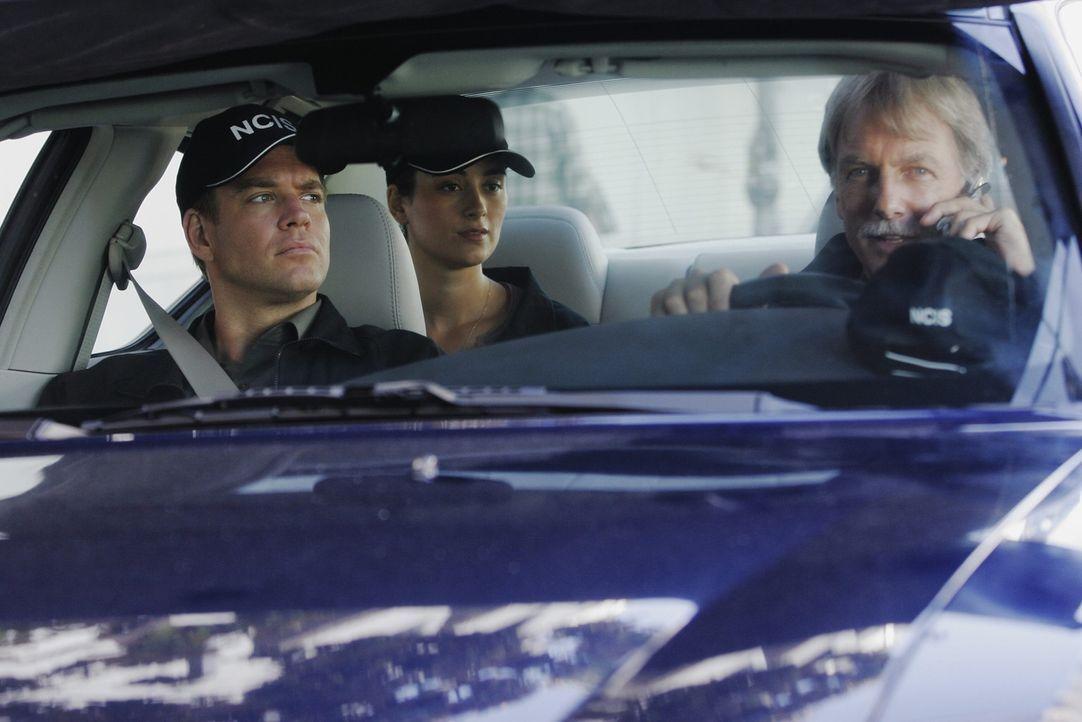 Dem Täter auf der Spur?: Gibbs (Mark Harmon, r.), Tony (Michael Weatherly, l.) und Ziva (Cote de Pablo, M.) ... - Bildquelle: CBS Television