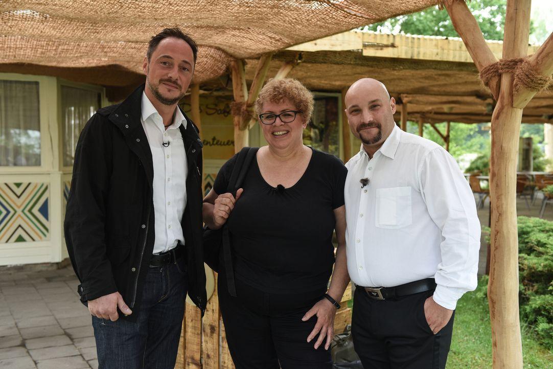 Kämpfen um einen Job im Seregeti Park: (v.l.n.r.) Marcus Kühnemund, Ruth Legagneux und Alessio Dogana ... - Bildquelle: Marion von der Mehden kabel eins