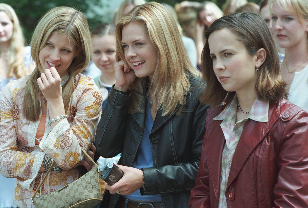 Seit ihrer Kindheit sind (v.l.n.r.) Bess (Jill Ritchie), Nancy Drew (Maggie Lawson) und George (Lauren Birkell) unzertrennlich. Eines Tages glauben... - Bildquelle: Buena Vista Television