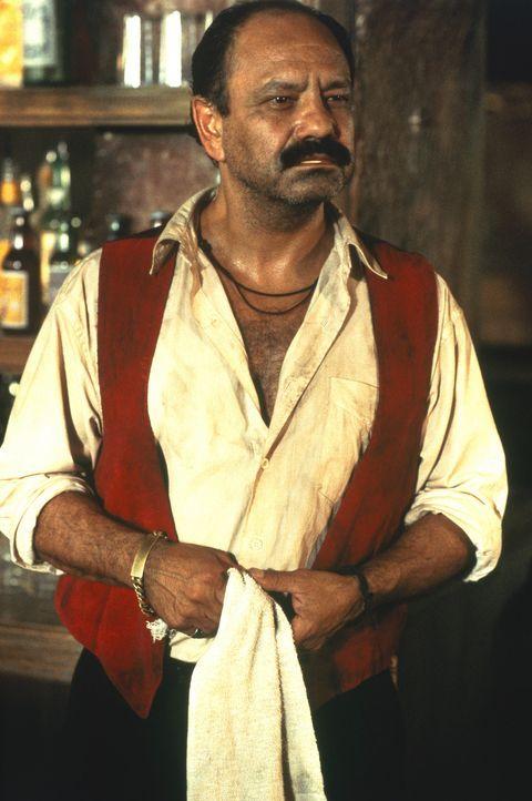 Als er die Geschichte von dem mysteriösen Mann mit dem Gitarrenkoffer hört, bekommt der Barkeeper (Cheech Marin) weiche Knie ... - Bildquelle: Columbia Pictures