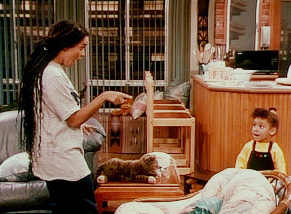Denise (Lisa Bonet, l.) und Olivia (Raven Symone, r.) müssen entnervt feststellen, dass es gar nicht so einfach ist, auf die Zwillinge aufzupassen. - Bildquelle: Viacom