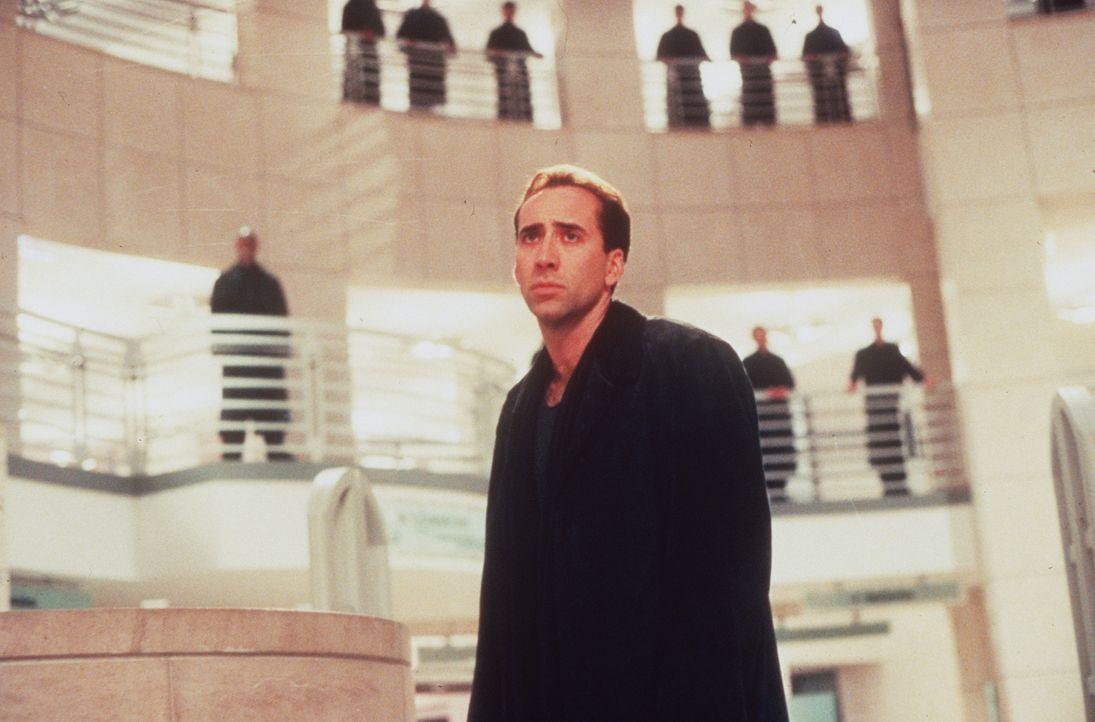 Hilflos muss der Schutzengel Seth (Nicolas Cage, M.) erleben, wie sich die Ärztin Maggie quält. Er sieht ihre Verzweiflung und ihre Trauer, kann sie... - Bildquelle: Warner Bros.