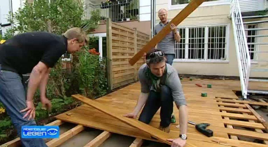 Abenteuer Leben - Video - Wie baue ich mir eine Holzterrasse ...