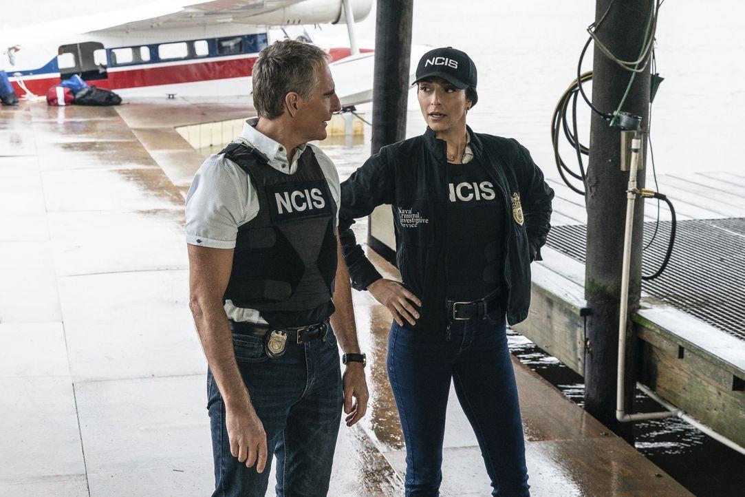 Special Agent Dwayne Pride (Scott Bakula, l.); Special Agent Hannah Khoury (Necar Zadegan, r.) - Bildquelle: Sam Lothridge 2020 CBS Broadcasting Inc. All Rights Reserved. / Sam Lothridge
