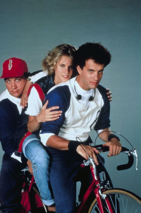 Richard (Tom Hanks, r.) ahnt nicht, dass sein Freund Morris (James Belushi, l.) ihm die Agentin Maddy (Lori Singer, M.) auf den Hals hetzt ... - Bildquelle: 1985 Twentieth Century Fox Film Corporation.  All rights reserved.