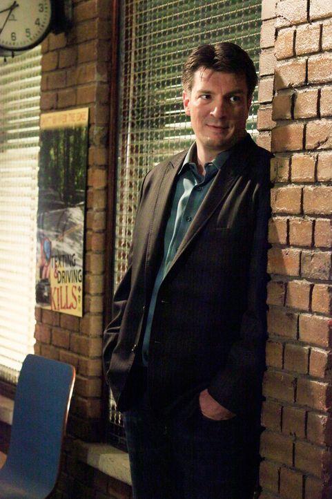 Richard Castle (Nathan Fillion) kann nicht verbergen, dass er auf den neuen Kollegen, der offensichtlich eine Schwäche für Kate Beckett hat, eifersü... - Bildquelle: ABC Studios