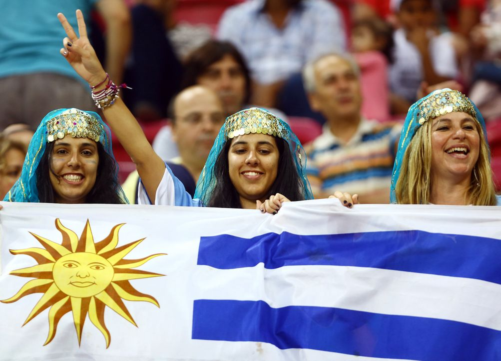 Uruguays Fan-Damen - Bildquelle: AFP