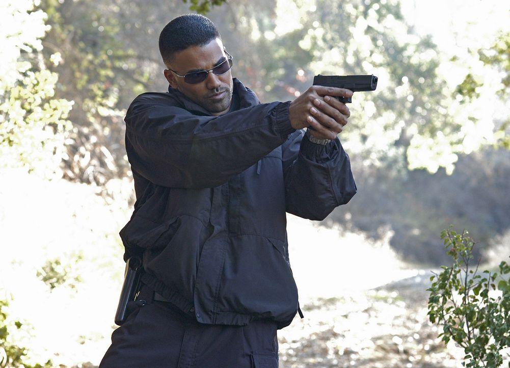 Agent Derek Morgan (Shemar Moore) und seine Kollegen versuchen in der Kleinstadt McAllister einem Mord aufzuklären ... - Bildquelle: Touchstone Television