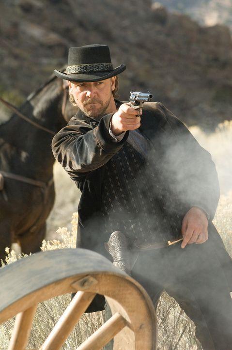 Durch einen Zufall gelingt es dem Farmer Dan Evan, den Räuber und Mörder Ben Wade (Russell Crowe) gefangen zu nehmen. Daraufhin lässt er sich auf... - Bildquelle: 2007 Yuma, Inc. All Rights Reserved.