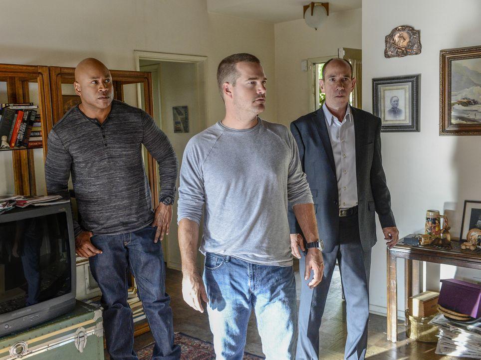 Ermitteln in einem ganz besonderem Fall: Sam (LL Cool J, l.), Granger (Miguel Ferrer, r.) und Callen (Chris O'Donnell, M.) ... - Bildquelle: CBS Studios Inc. All Rights Reserved.
