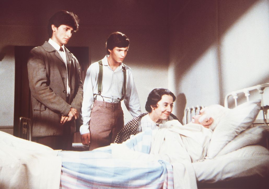 Seine Frau Anna Rosa (Gloria Manos) sowie seine Söhne Stefano (Robert Torti, l.) und Marco (Stephen Manley, 2.v.l.) sind erleichtert, dass Gambini... - Bildquelle: Worldvision